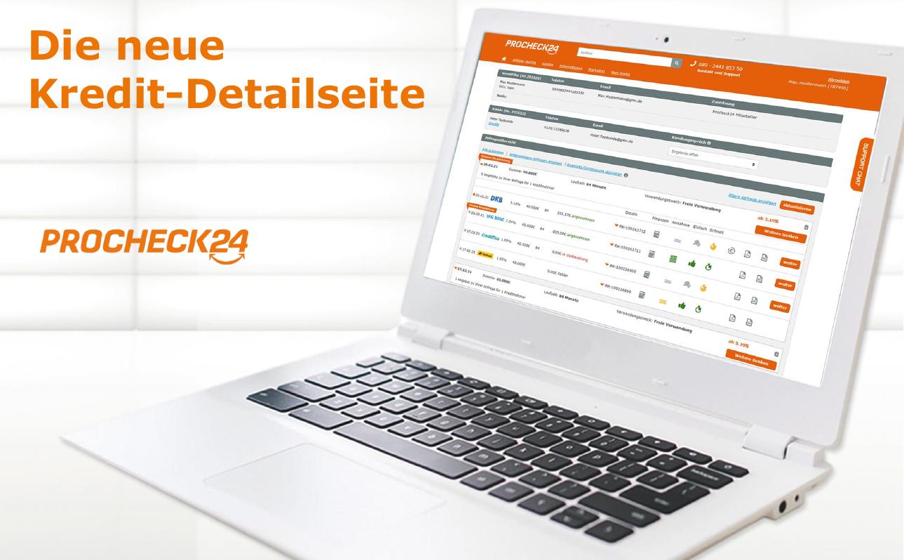 Übersichtlicher, schneller, interaktiver: Die neue Ratenkredit-Detailseite von PROCHECK24