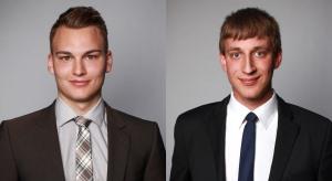 Vom Azubi zum Fachberater: Clemens Bahe und Dennis Kröger verstärken das Vorsorge-Management