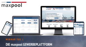 Webinar: Neue Funktionen in der maxpool-Gewerbeplattform